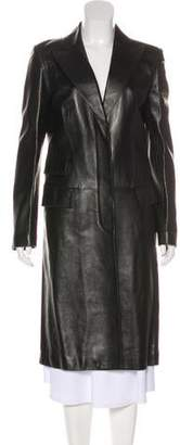 Gucci Leather Long Coat