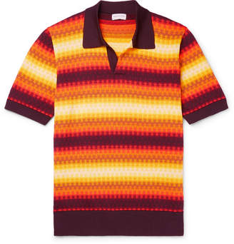 Dries Van Noten Slim-Fit Jacquard-Knit Polo Shirt