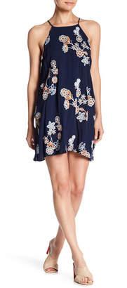 J.o.a. Spaghetti Strap Floral Print Dress