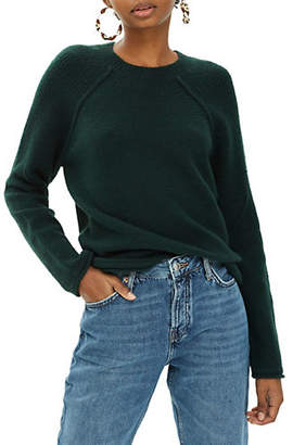 Topshop Ribbed Sleeve Sweater
