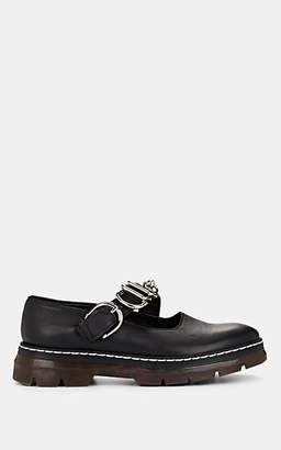 Cédric Charlier Women's Leather Mary Jane Loafers - Black