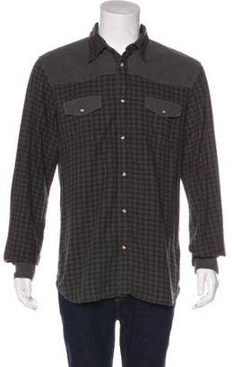 Prada Sport Plaid Flannel Shirt