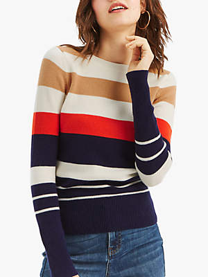 Shannon Colour Block Knit Jumper, Multi