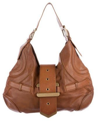 Alexander McQueen Alexander McQueen Buckle-Accented Leather Hobo