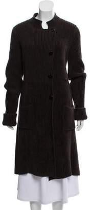 Armani Collezioni Wool & Angora-Blend Heavy Cardigan Grey Wool & Angora-Blend Heavy Cardigan