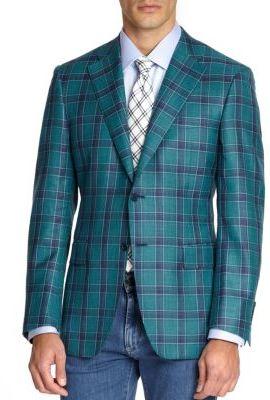 Wool-Blend Windowpane Jacket $1,695 thestylecure.com