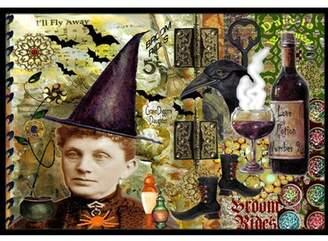 b-ROOM Caroline's Treasures Broom Rides and Spells Halloween Doormat Mat