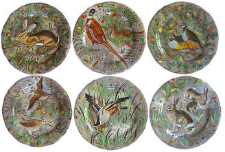 One Kings Lane Vintage French Faience Hunting Plates - Set of 6