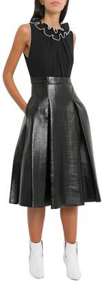 Three floor Midi Dress With Pleated Skirt