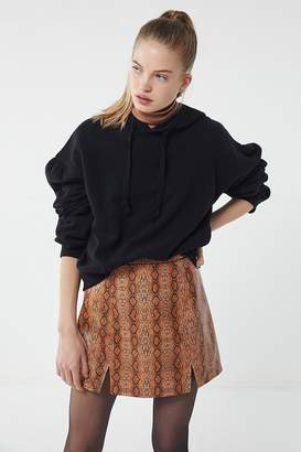 Urban Outfitters Bobbi Snake Print Notched Mini Skirt