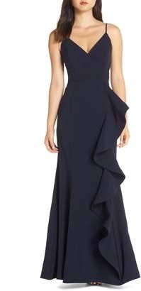 Eliza J Cascade Ruffle Gown