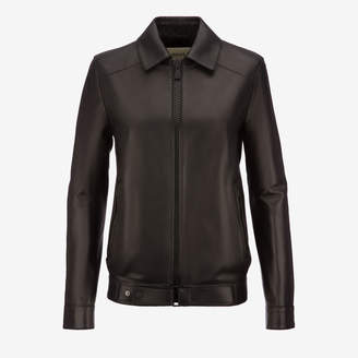 Bally Zipped Leather Jacket Black, Women's lamb nappa leather jacket in black