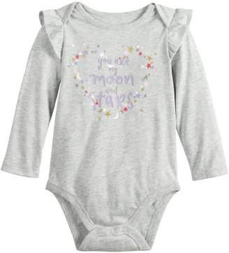 Baby Girl Jumping Beans Ruffled Shoulder Graphic Bodysuit