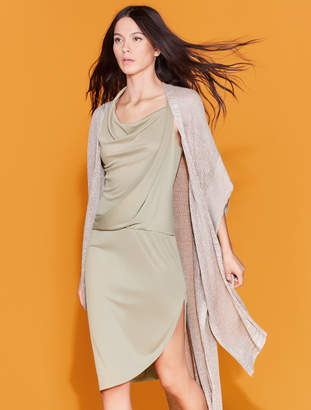 Halston Draped Jersey Dress