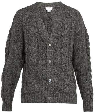Thom Browne - Cable Knit Wool Cardigan - Mens - Grey
