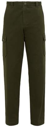 A.P.C. Jones Cotton Twill Cargo Trousers - Mens - Green