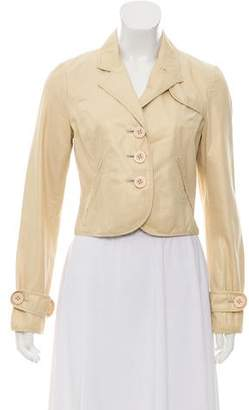 Elizabeth and James Peak Lapel Cropped Blazer