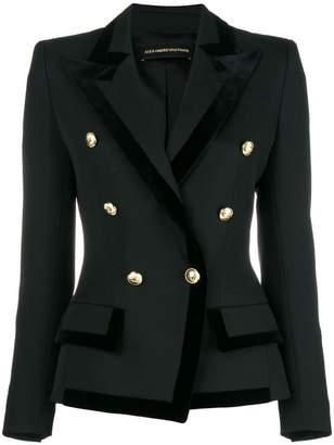 Alexandre Vauthier velvet detailing blazer