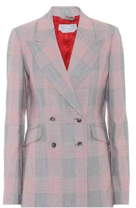Gabriela Hearst Angela plaid wool blazer