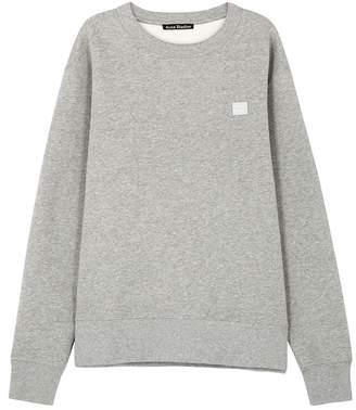 Acne Studios Fairview Face Light Grey Cotton Sweatshirt