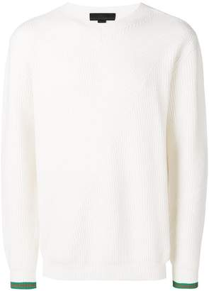 Stella McCartney contrast ribbed jumper