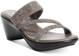 Callisto Raya Embellished Wedge Sandals Women's Shoes