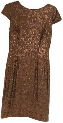 Hobbs Gold Glitter Dress for Women