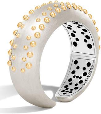 John Hardy Dot Medium Silver & 18K Cuff Bracelet
