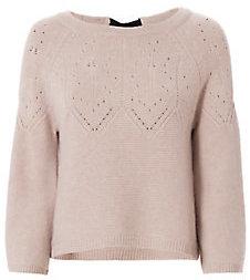 Autumn Cashmere Ribbon Tie Back Sweater $325 thestylecure.com