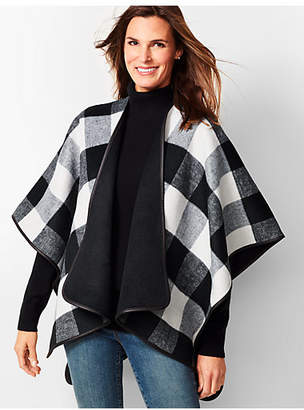 Talbots Double-Face Buffalo Plaid Ruana