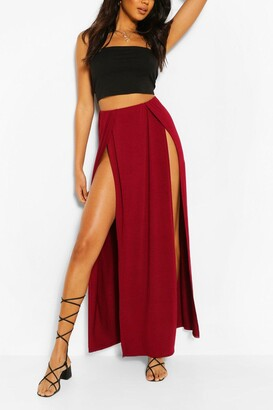 boohoo Thigh Split Maxi Skirt