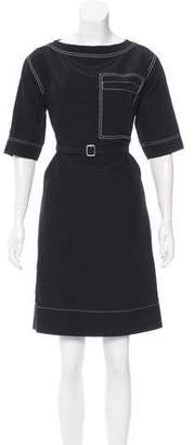 Celine Belted Knee-Length Dress w/ Tags