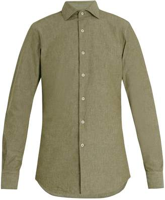Glanshirt Long-sleeved slim-fit cotton shirt