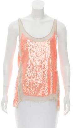 AllSaints Sequined Sleeveless Top