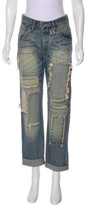 Nobody Mid-Rise Straight-Leg Jeans w/ Tags