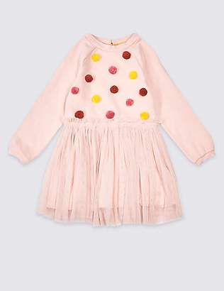 Marks and Spencer Pom-pom Skirt Dress (3 Months - 7 Years)