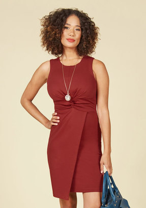 Meeting Maven Sheath Dress in Rust in S $20.99 thestylecure.com