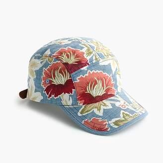 J.Crew Floral chambray ball cap