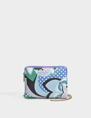 Emilio Pucci Double Pochette Bag in Multicolour PVC