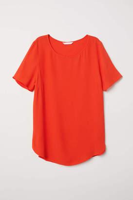 H&M Creped Top - Orange - Women
