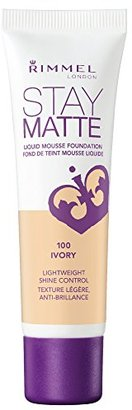 Rimmel Stay Matte Foundation, Ivory, 1 Fluid Ounce $8.18 thestylecure.com