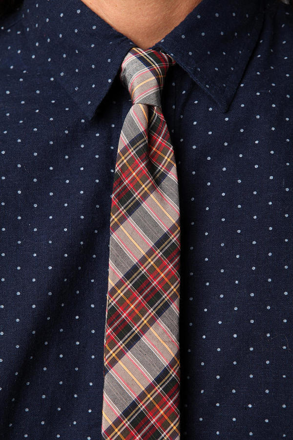 Urban Outfitters Montauk Madras Necktie