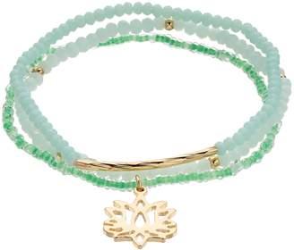 Lauren Conrad Bead & Lotus Flower Stretch Bracelet
