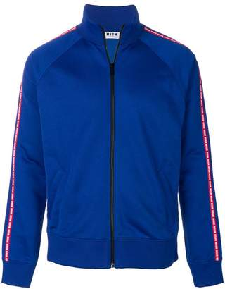 MSGM brand stripe zipper top
