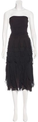 Vera Wang Silk Strapless Dress $95 thestylecure.com