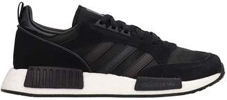 adidas Black Leather And Suede Botonsuper X R1 Sneakers
