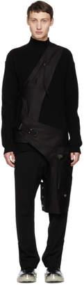 Rick Owens Black Cross Cargo Chap Vest