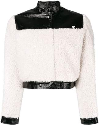 Courreges faux shearling cropped jacket