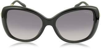 Roberto Cavalli Mizar 917S-A Black Acetate Women's Sunglasses w/Crystals