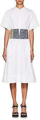 CF GOLDMAN Women's Cotton Poplin Corset Dress